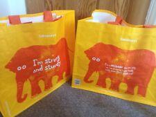 2 !!!Sainsburys Shopping Bags Reusable Shopping Bag Tesco Shopping Bag