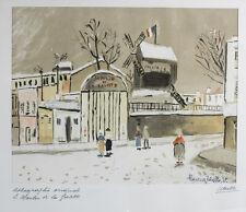 "Maurice Utrillo (French 1883-1955) Lithograph ""Moulin de la Galette"", Signed"