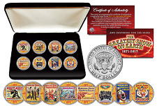 RINGLING BROTHERS AND BARNUM & BAILEY CIRCUS ULTIMATE 8-Coin JFK Set w/BOX & COA