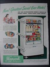 1947 Servel Gas Refrigerator Greatest Servel Ever Vintage Print Ad 12676