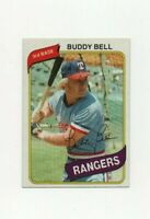 1980 Topps Buddy Bell #190 Baseball Card - Texas Rangers
