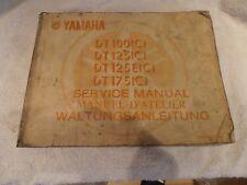 YAMAHA DT100 DT125 DT175 GENUINE SERVICE MANUAL