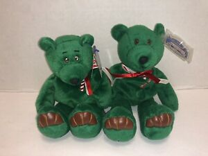 Lot of 2 Limited Treasures Holiday Edition 1998 Sugar Cane Christmas Beanie Bear