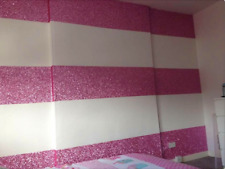 Baby Pink chunky glitter 15cm wallpaper border grade 3 sold by metre fabric