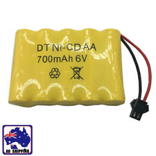 1pc Ni-Cd AA 700mAh 6V Rechargeable Battery Pack w/ SM Plug RC Toy Car VRB000903