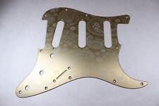 Gold Anodized Paisley  Aluminum SSS Strat Pickguard- Fits Fender Stratocaster