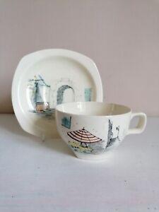 "Retro Midwinter Stylecraft ""Riviera"" Low Tea Cup & Saucer"