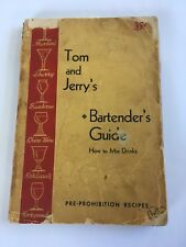 Tom & Jerry's Bartender's Guide 1934 Edition