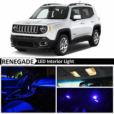 11x Blue Interior LED Lights Package Kit for 2015-2017 Jeep Renegade BU