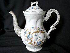 Cafetière ancienne porcelaine Paris ou Limoges  décor rocaille et oiseaux