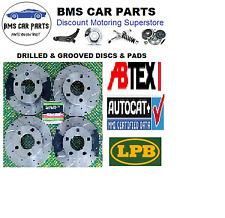 BMW E39 530D 530i 535i 540i Front & Rear Drilled & Grooved Brake Discs & Pads