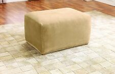 Sure Fit Ottoman Slipcover, Cream