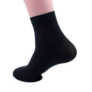 1Pair Mens Soft Bamboo Silk Ankle Business Dress Thin Sock Sports Casual Socks