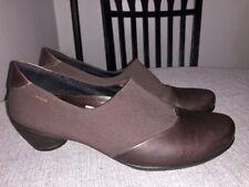 ECCO Sculptured GTX Pumps Womens 40/ 10 GoreTex Brown Leather Slip On Shoe $148