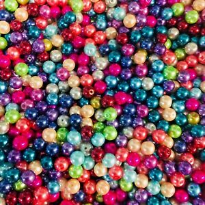 100 with 20 free or 200 with 50 free 8mm Glass Pearl Mix