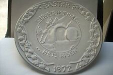 Vintage Frankoma Pottery Easter Plate1972 Oral Roberts Association Vgc 7-1/2 in