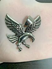 Men Stainless Steel Silver AMERICAN FLYING EAGLE Charm Pendant*