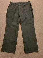 Lee Modern Series Dark Denim Curvy Fit Tapered Leg Mid Rise Jean Trouser Sz 20W