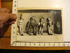 Vintage MARIONETTE PHOTO, Stages:5 the UMENA PUPPETS Czechoslovakia MONSTER ALIE
