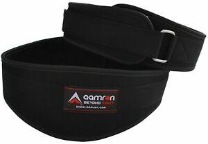 Aamron ® D Shape Neoprene Weight Lifting Belt Gym Training Back /Lumber Support
