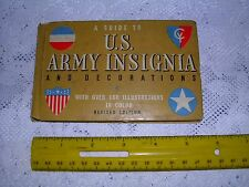 A Guide to U. S. Army Insignia and Decorations 1940's Vintage Revised Edition