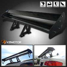 Black Aluminum Adjustable Gt Double Deck F1 Style Trunk Spoiler Wing Fits Saturn Aura