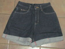 Vintage LEE Dark Wash High Waisted Rise Cuffed Jean Denim Shorts Size 10M NWT