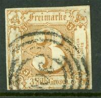 Germany 1861 Thurn & Taxis North 3sgr Brown Red SG #17 VFU G287 ⭐⭐⭐⭐⭐