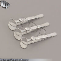 """3 O.R. Grade Desmarres Chalazion Forceps 3.5"""" S/M/L Ophthalmic Instruments"""