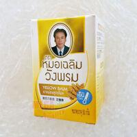 50 G. Wangphrom Yellow Thai Herbal Balm Relief Pain Anti-inflammatory, Swelling