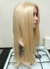 Human hair wig, blonde real hair, white blonde, full wig