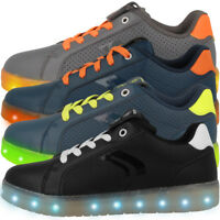GEOX J Kommodor B. B GS Schuhe LED Low Cut Freizeit Sneaker Shuttle J745PB0BCBU