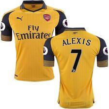 Puma Alexis Sanchez Arsenal FC Away Yellow Soccer Jersey Mens Premier League