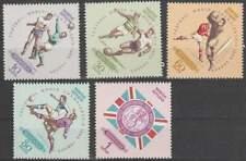 Mongolia postfris 1966 MNH 420-424 - WK Voetbal Londen (k069)