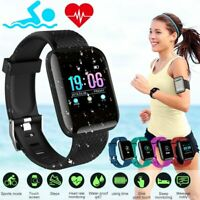 Smart Watch Blood Pressure Waterproof Heart Rate Monitor Tracker Sport Wristband