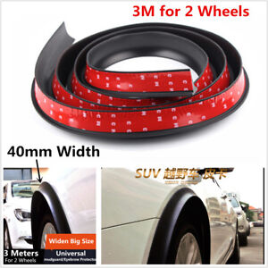 4cm Widen Car Pickup Rubber Fender Flare Wheel Arch Eyebrow Protector Mudguards