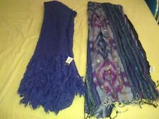 Lot de 2 écharpes ''oversize'' femmes neuves ! (Galeries Lafayette)