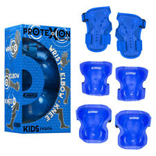 Crazy Skates Blue Safety Pads Boys Girls Protective Knee Wrist Elbow Guards