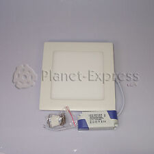 DOWNLIGHT LED Cuadrado 15W EXTRAPLANO ALTA INTENSIDAD Blanco Calido. Driver 220V