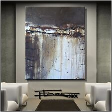 Huge Modern Abstract Painting Canvas Wall Art Large Framed US ELOISExxx