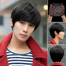 Fashion Men Handsome Short Straight Cosplay Party Hair Wig Full Wigs +Wig Cap .~