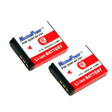 TWO BATTERIES for Sony NP-FR1 CyberShot DSC-F88 G1 P100 P150 T30 BATTERY X 2