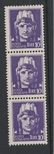 FRANCOBOLLI 1929 REGNO IMPERIALE L. 10 STRISCIA DI 3 ESEMPLARI MNH D/4707