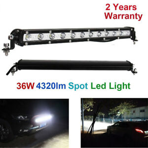 36W LED Light Bar Ultra Slim Spot Work Driving Lamp Off-road for Jeep Truck