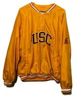 Vintage USC Trojans Jacket 1990s Team Edition Apparel Embroidered Mens XL Yellow