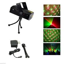 Mini LED R&G Laser Projector Stage Lighting LED Adjustment Club Party DJ Disco