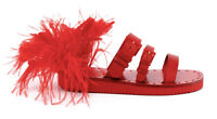 Valentino Garavani Runway Feather Slide Sandal Size 38
