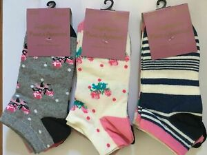3 Pairs Women Ankle Invisible Socks For Sports Comfortable Running UK Size 4-8