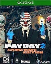 Payday 2 Crimewave Edition RE-SEALED Microsoft Xbox One 1 XB XB1 XB3 GAME