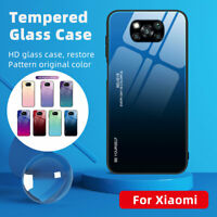 For Xiaomi POCO X3 Pro NFC Luxury Hybrid Shell Glass Gradient Soft Cover Case